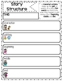 Story Structure Graphic Organizer-PDF & Digital PNGs