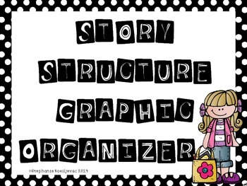 Story Structure Graphic Organizer (Uses Basic Signal Words to Ask Questions)