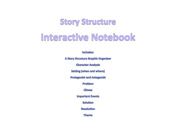 Story Structure Interactive Notebook Pages