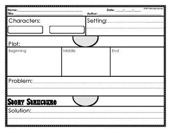 Story Structure (Story Elements) Graphic Organizers (9)