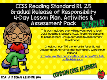 RL2.5 Story Structure Gradual Release Mini-Lesson, Activity & Assessment BUNDLE