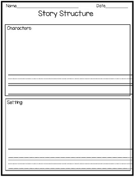 Story Structure Response Pages