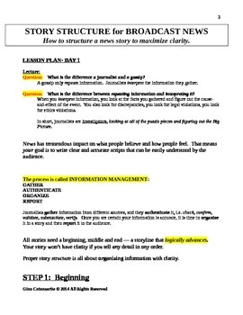Story Structure for Broadcast News: How to Maximize CLARITY