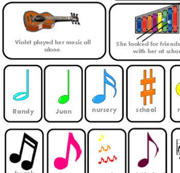 Story Structure music themed to go with Violet's Music