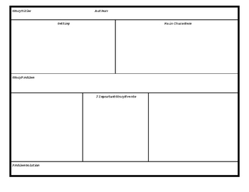 Story Structure,Story Quilt, & Book Comparison Worksheets