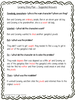 Story Structures; Complete Lesson  – Gangsta Granny
