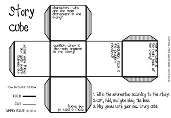 Story Study Graphic Organizer Cube! Students create a cube