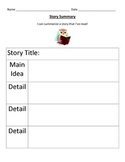 Story Summary For Main Ideas and Details
