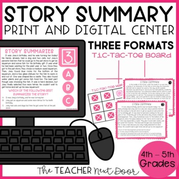 Story Summary Game | Story Summary Center