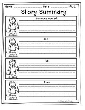 Story Summary Graphic Organizer 2