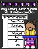 Story Summary Interactive Notebook Organizer with Illustra