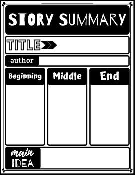 Story Summary and Main Idea Graphic Organizers