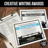 Creative Writing Awards: 75 Certificates for Narratives in Secondary ELA