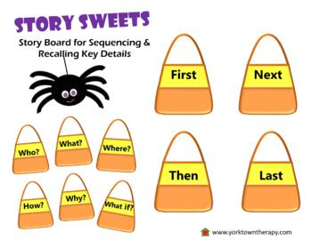 Story Sweets Halloween-Themed Story Board