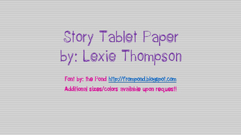 Story Tablet Paper Pack!