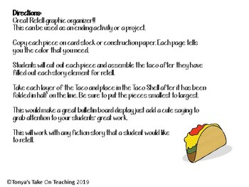 Story Taco Graphic Organizer