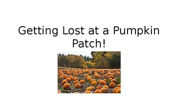 StoryTellers Six Elements of a Story: Getting Lost at the Pumpkin Patch