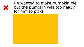 StoryTellers Six Elements of a Story: Pumpkin Pie Story