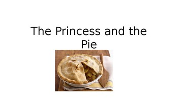 StoryTellers Six Elements of a Story: The Princess and the Pie (fall)
