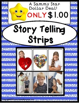 "Story Telling Strips for Language Development ""WH"" Questions and Sequencing"