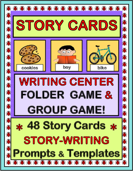 """""""Story Cards"""" -- Writing Center Folder Game and Group Game"""