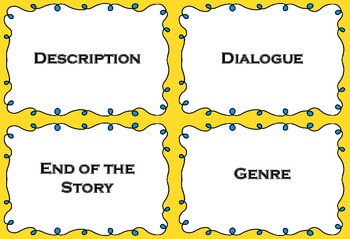 Story Time! A fun game to review elements of a story.