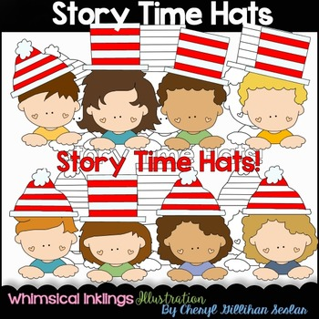 Story Time Hats Clipart Collection