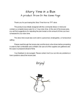Story Time in a Box: Snowmen at Night