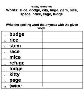 Story Town Lesson 13 Grade 2 Spelling Homework Packet