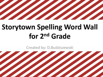 Story Town Spelling Word Wall Words for 2nd Grade