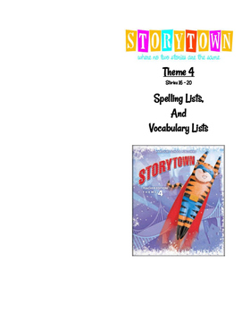 Story Town Theme 4 Booklet