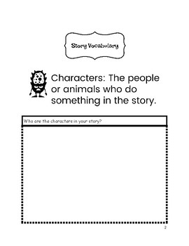 Story Vocabulary Interactive Graphic Organizers