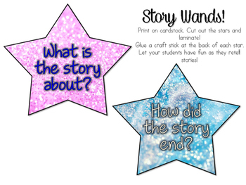 Story Wands,  Word Spacers &  Reading Tracker!