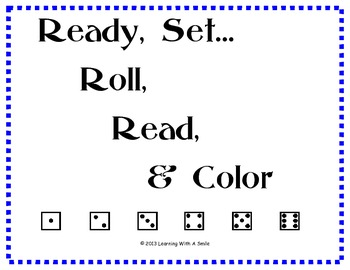 Word Game - Roll, Read, & Color  - Great for Intervention Groups!