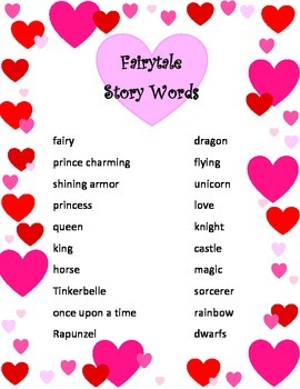 Story Words for Free Writing