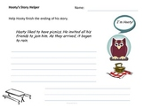 Story Worksheets: Story Completion Exercises: Hooty's Story Helper