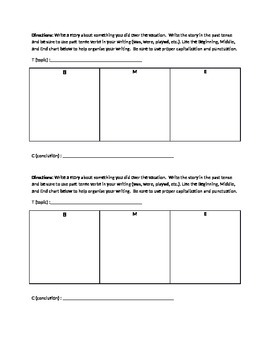 Story Writing - B M E organizer