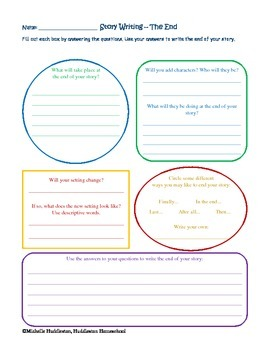 Story Writing - Beginning to End Worksheet Pack