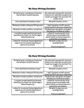 Story Writing Checklist
