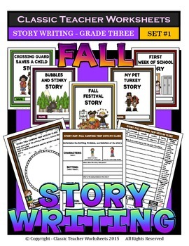 Story Writing-Fall-Grade 3 (3rd Grade)-Story Maps and Stor