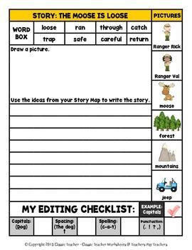 Story Writing-Fall-Grade 2 (2nd Grade)-Story Maps and Story Writing Templates
