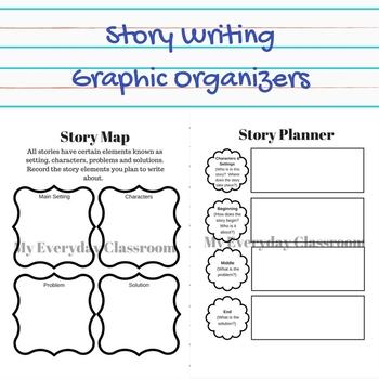 Story Writing Graphic Organizers