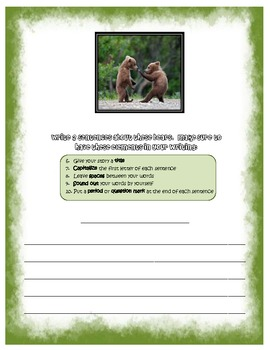 Story Writing Packet w/ Picture Prompts