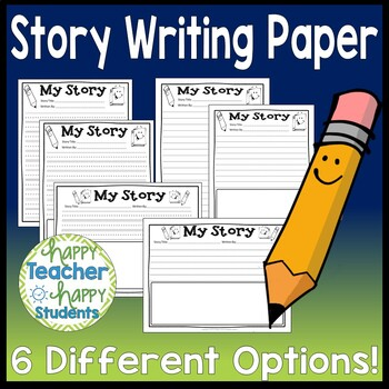 Story Writing Paper: 6 Blank Templatess (Story Writing Paper with Picture & w/o)
