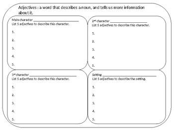Story Writing Planner/Organizer