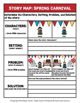 Story Writing-Spring-Grade 2 (2nd Grade)-Story Maps and Story Writing Templates