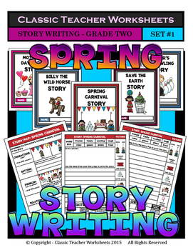 Story Writing-Spring-Grade 2 (2nd Grade)-Story Maps and St