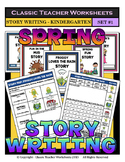 Story Writing - Spring - Kindergarten - Story Maps and Story Writing Templates
