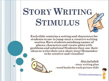 Story Writing Stimulus SLIDESHOW - Visual Prompts for crea