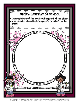 Story Writing-Summer-Grade 3 (3rd Grade)- Story Maps and Story Writing Templates